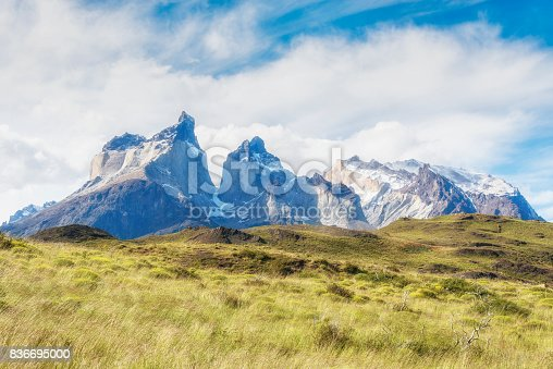 istock Los Cuernos, National Park Torres del Paine in southern Chile, Patagonia 836695000