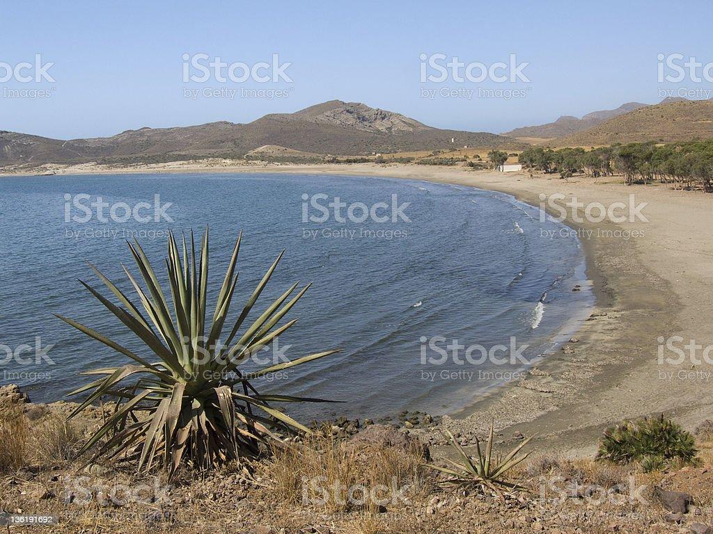 Los Genoveses beach , Almeria stock photo