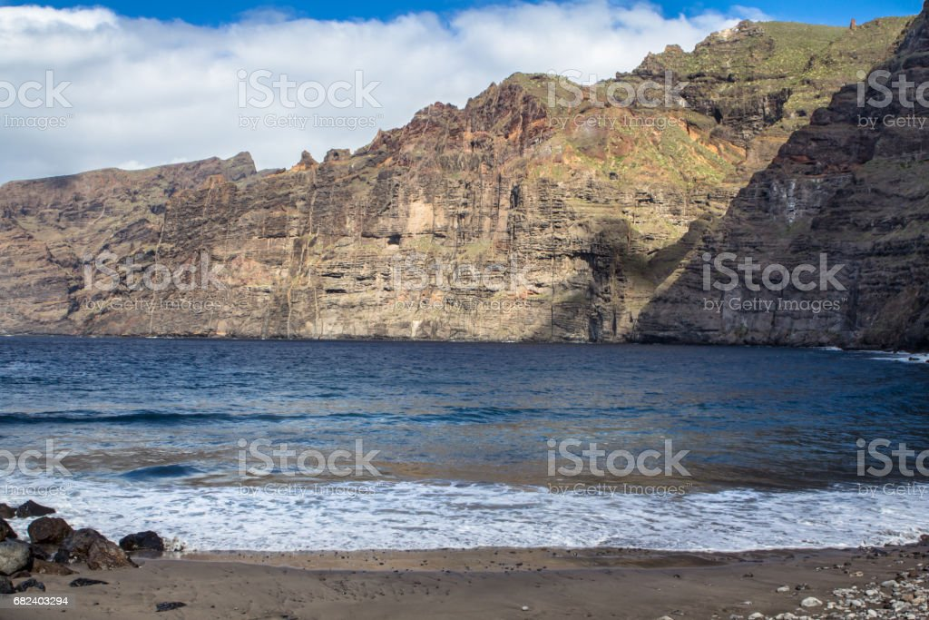 Los Gigantes Cliff, Tenerife, Spain royalty-free stock photo
