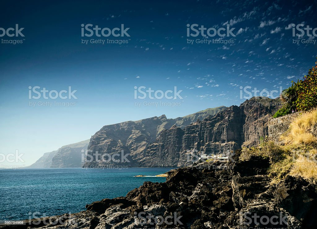 los gigantes cliffs coast landmark in south tenerife island spain stock photo