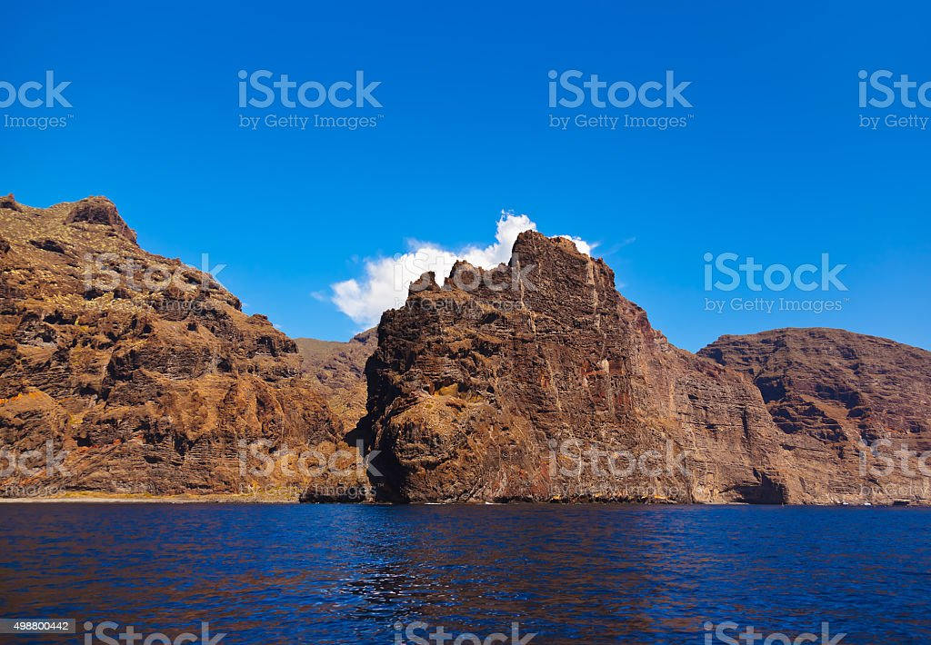 Los Gigantes rock at Tenerife island - Canary stock photo