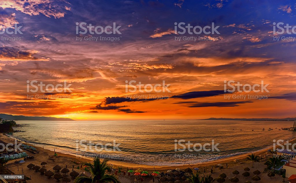 Los Muertos Beach stock photo