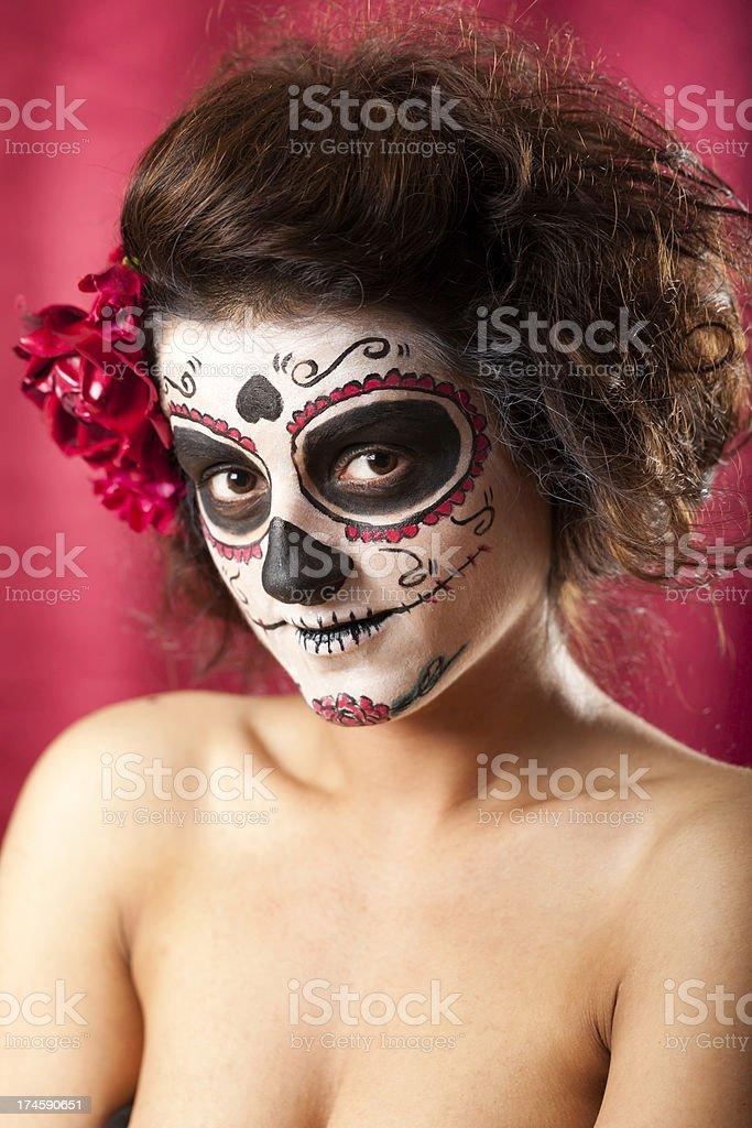 Los Muertos Girl royalty-free stock photo