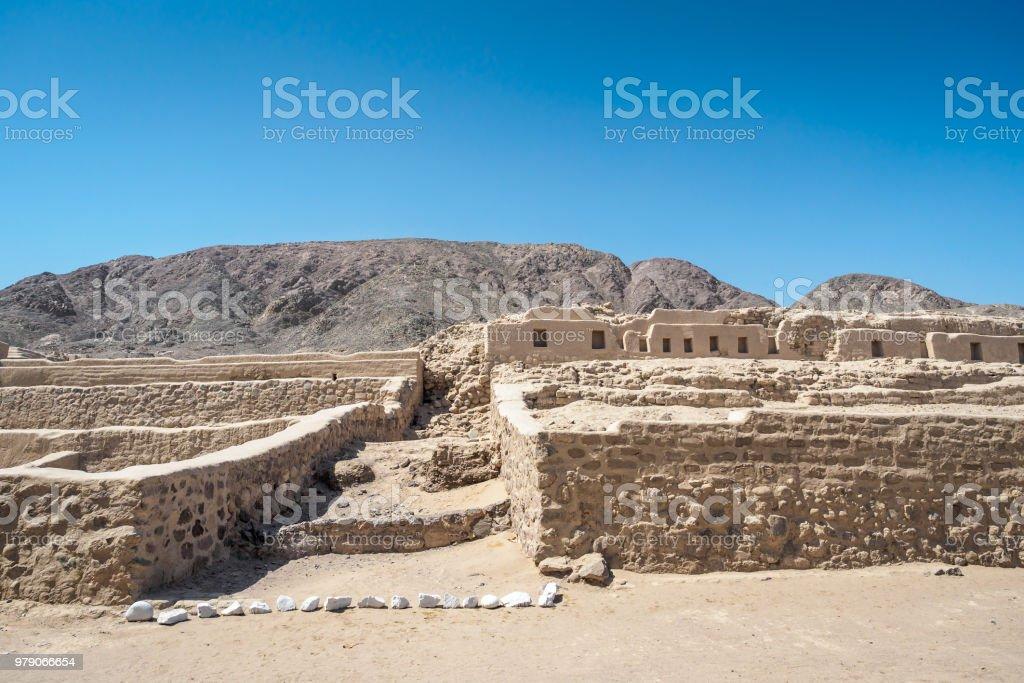 Los Paredones, einer historischen Ruinen in Nazca, Peru. – Foto