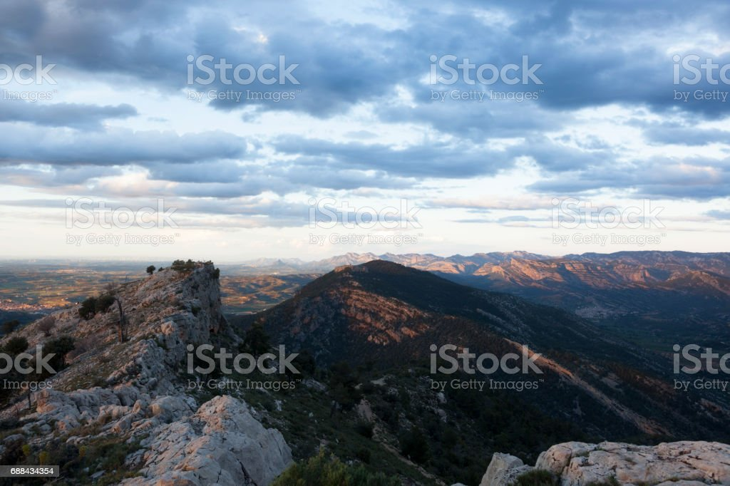 Los Ports Mountains stock photo