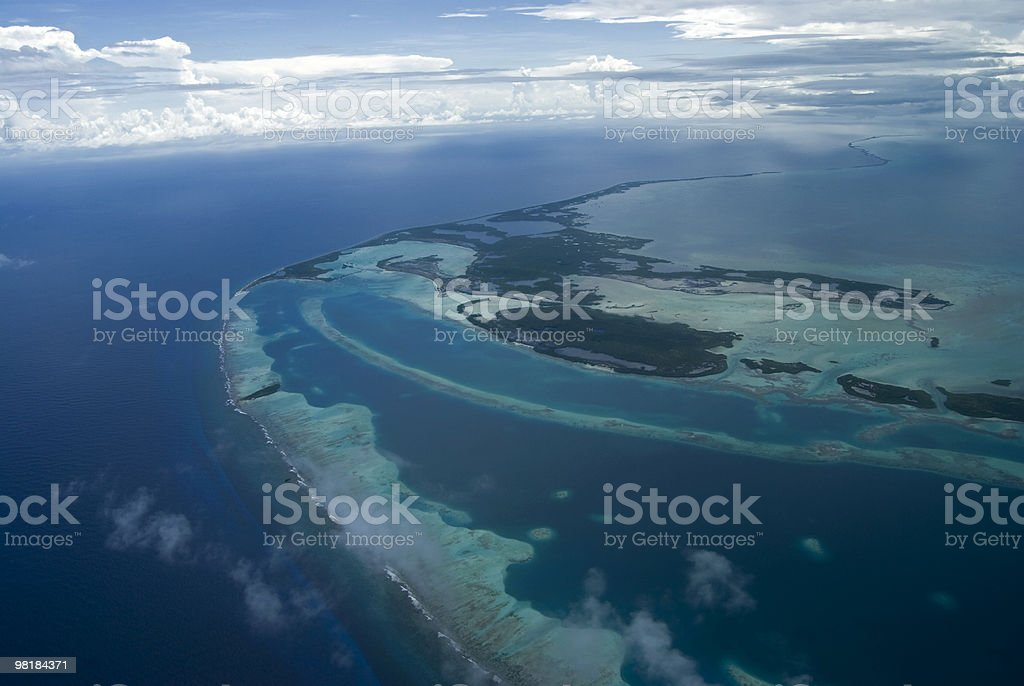 Los Roques Islands aerial view royalty-free stock photo