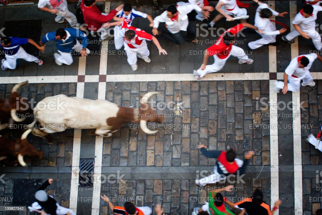 Los sanfermines, Pamplona royalty-free stock photo