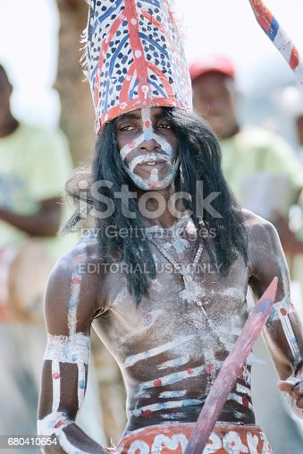 February 16, 2010 - Samana, Dominican Republic: Los Tainos, the re-enactment of the original African slaves who were brought to the Dominican Republic and became part of the Dominican heritage.