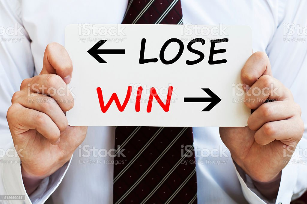 Lose or Win stock photo