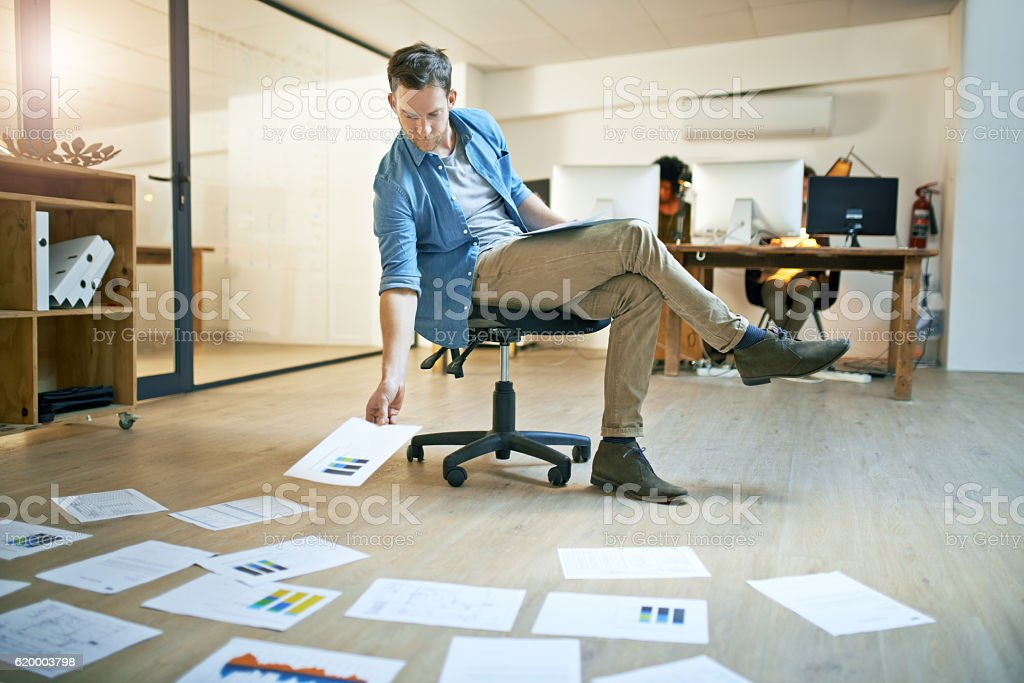 Lose the desk for a broader perspective stock photo