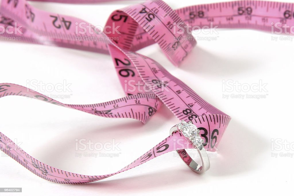 Lose Weight Before Wedding - Royalty-free Color Image Stock Photo
