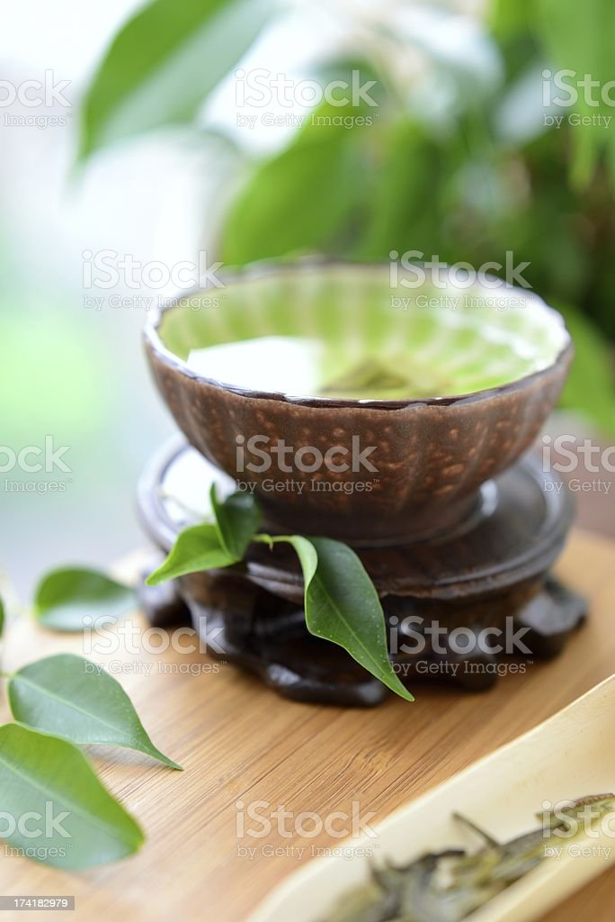 Сlose-up of green tea royalty-free stock photo