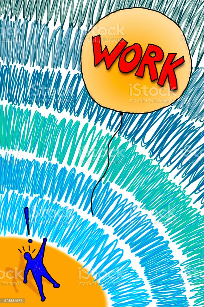 Losing a job: the work fly away! - concept image stock photo