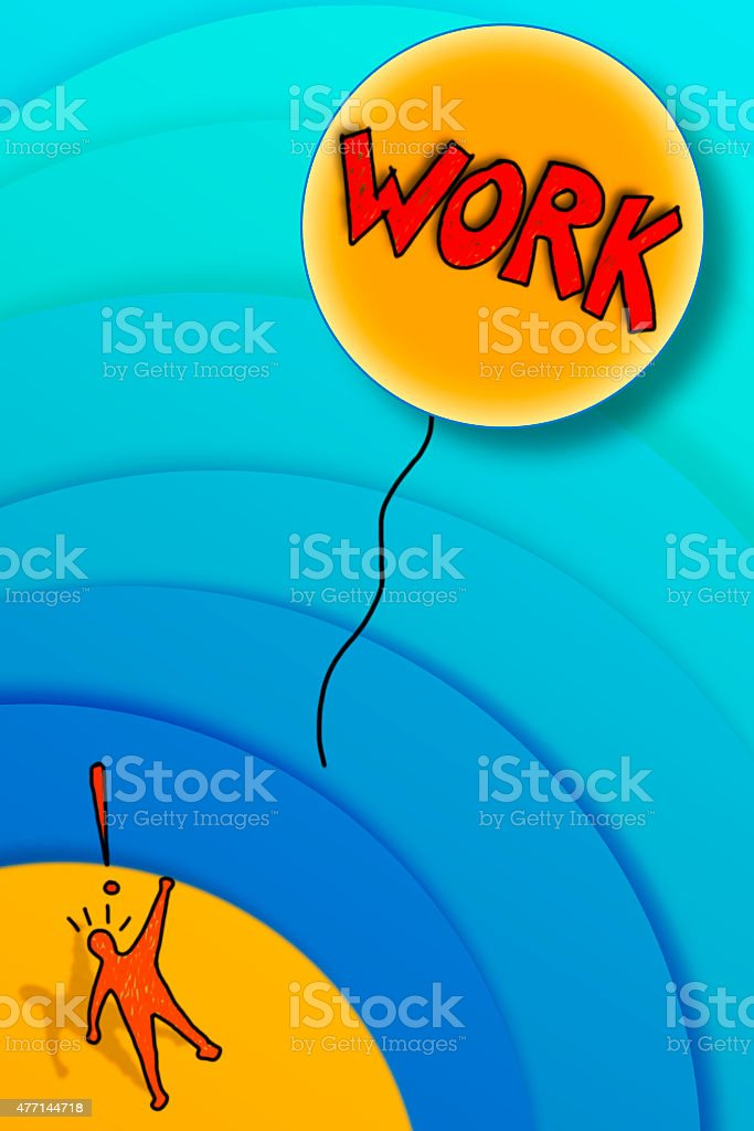 Losing a job: the work fly away! stock photo