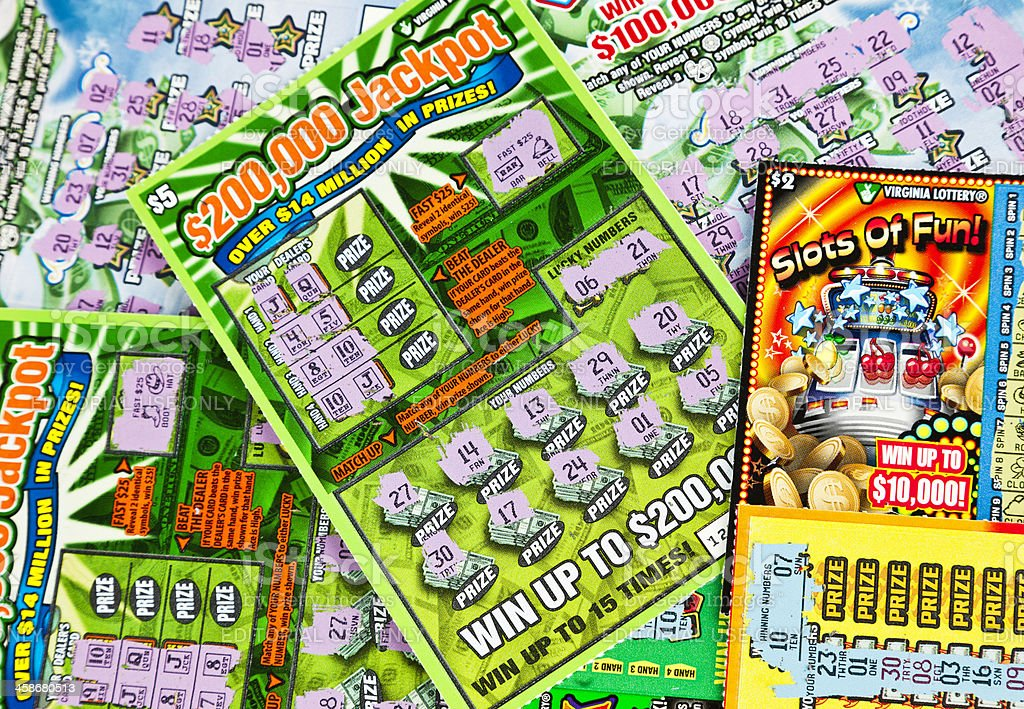 Losing Lottery Scratch-Off Cards stock photo