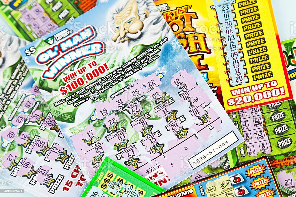 Losing Lottery Scratch-Off Cards royalty-free stock photo