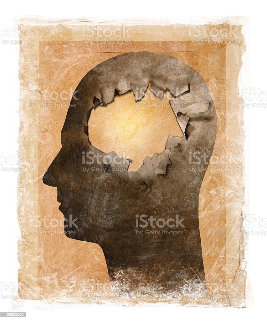 Losing my mind stock photo