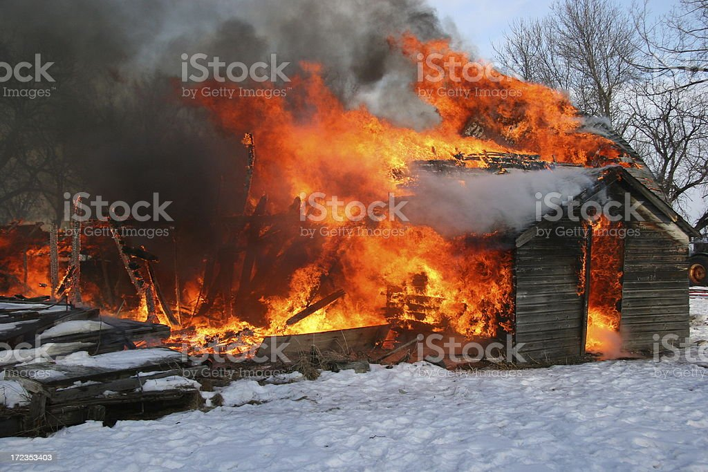 Losing our home to fire royalty-free stock photo