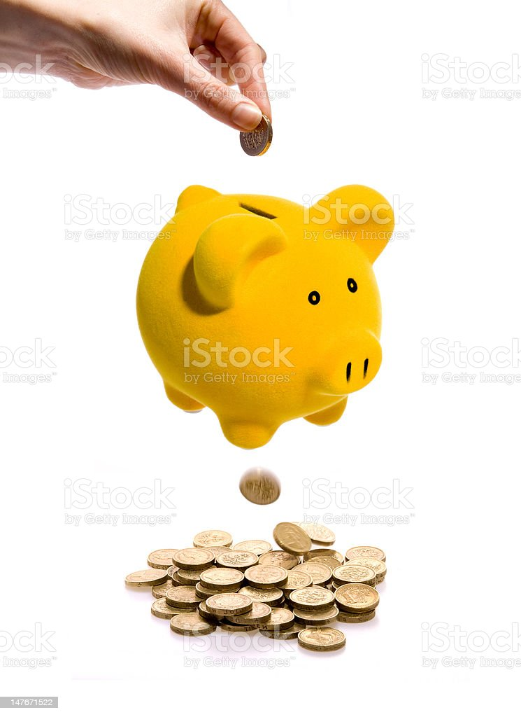 Losing savings royalty-free stock photo
