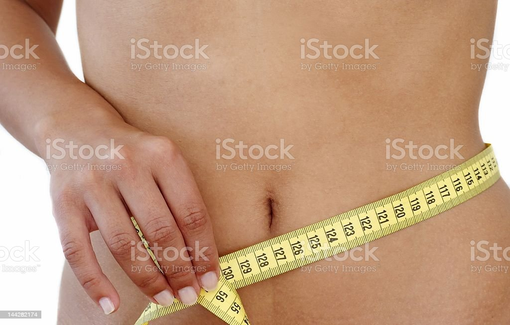Losing weight royalty-free stock photo