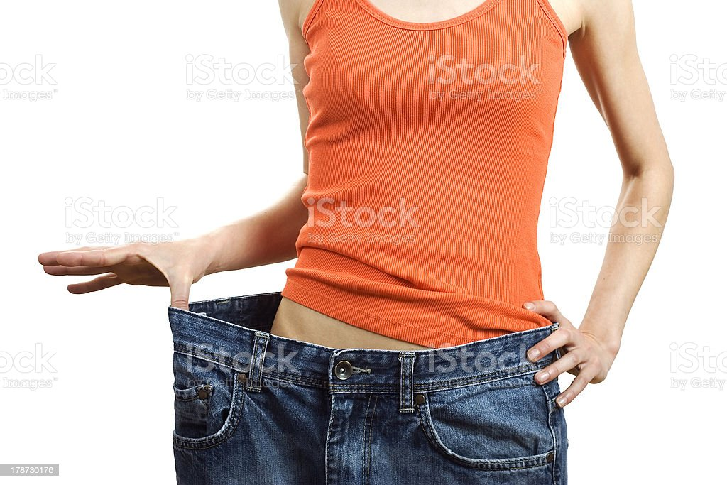 Losing weight stock photo