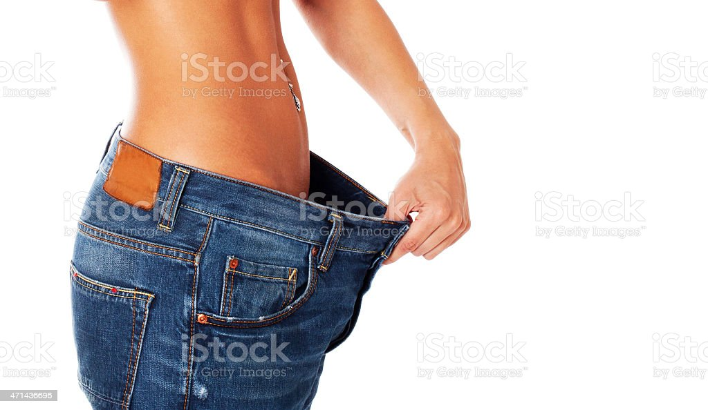 Losing weight. stock photo