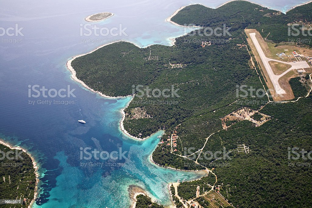 Losinj Island-airport detail royalty-free stock photo
