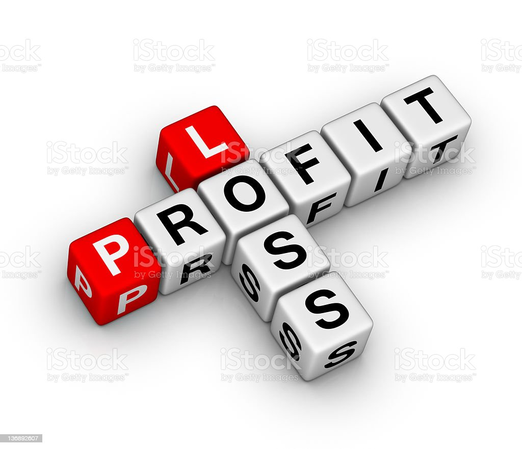 loss and profit stock photo