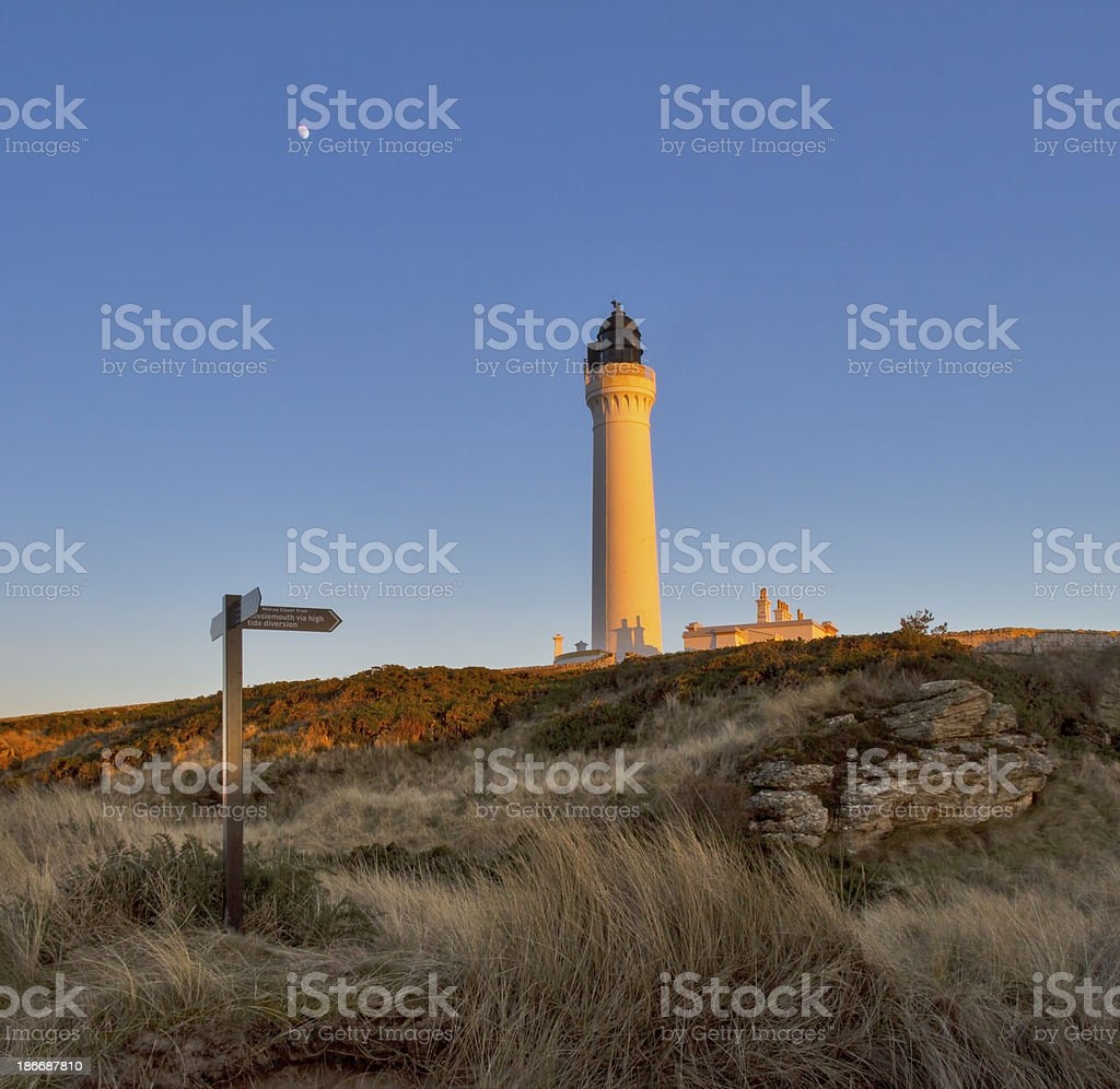 Lossiemouth, Covesea Lighthouse royalty-free stock photo