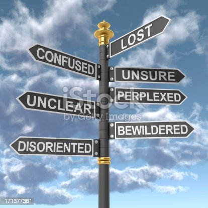 istock Lost and Confused signpost 171377381