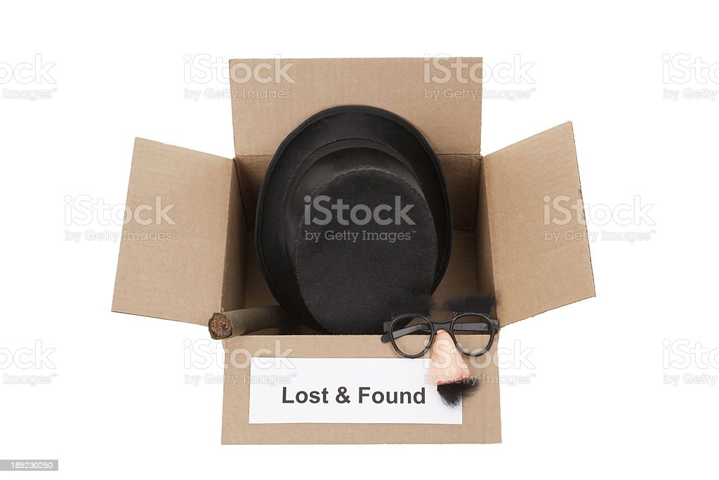 Lost and Found Sense of Humor stock photo