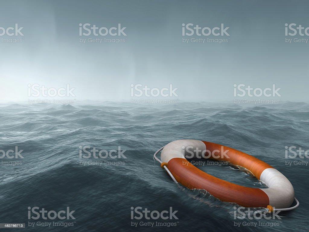 Lost at sea stock photo