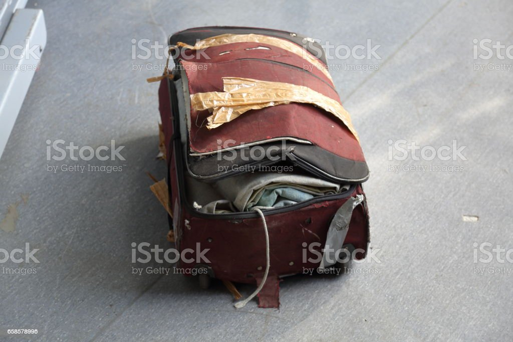 Lost baggage at the airport stock photo