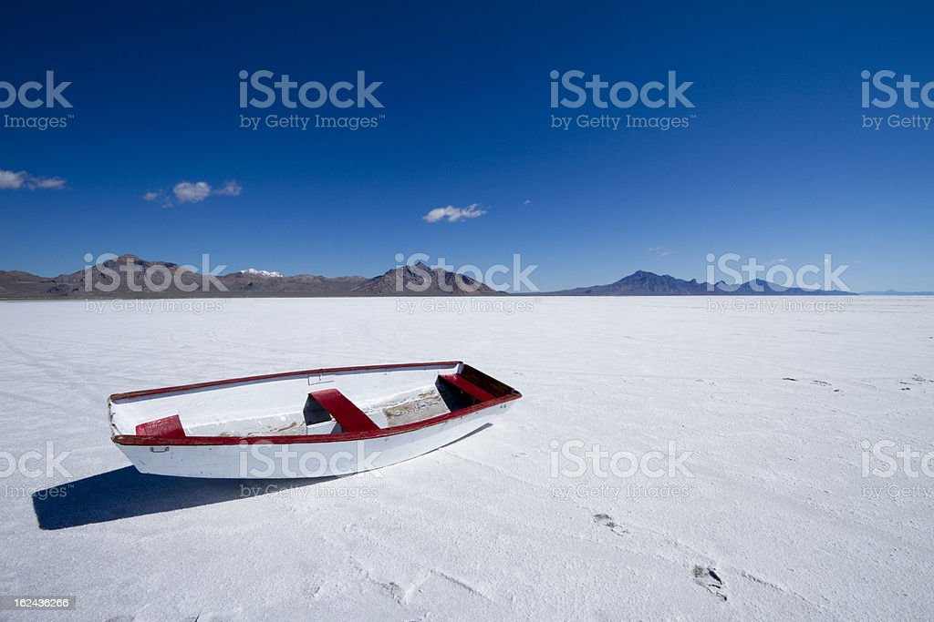 Lost Boat in Bonneville royalty-free stock photo