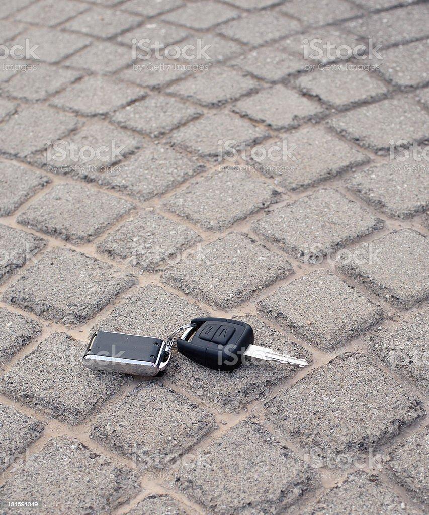 Lost car key stock photo