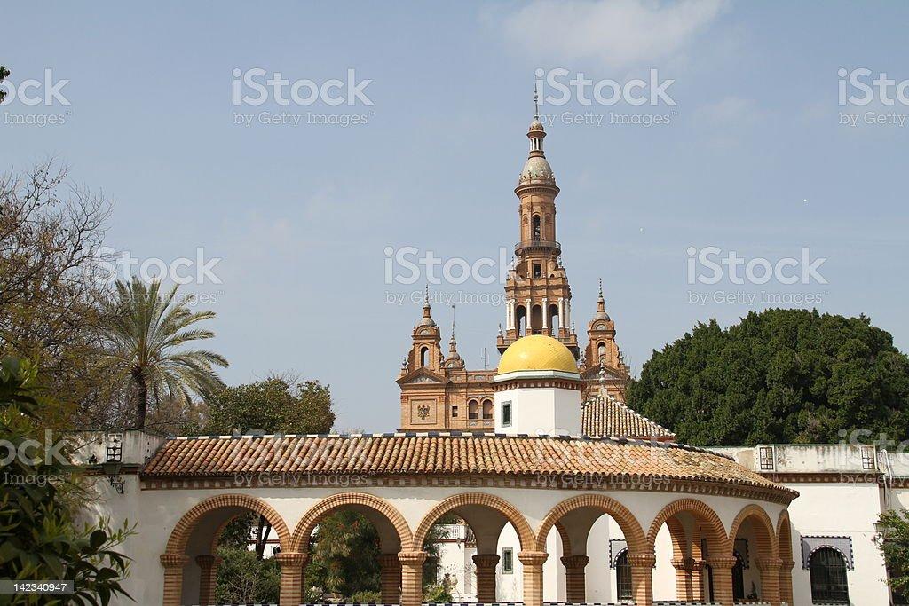 Lost corner in Seville royalty-free stock photo