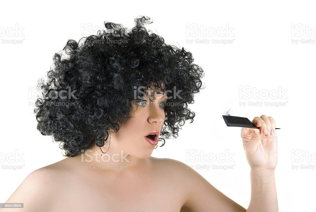 Lost hairs royalty-free stock photo