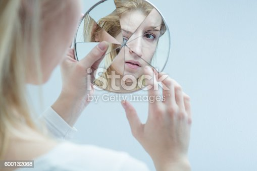 istock Lost herself in everyday difficulties 600132068