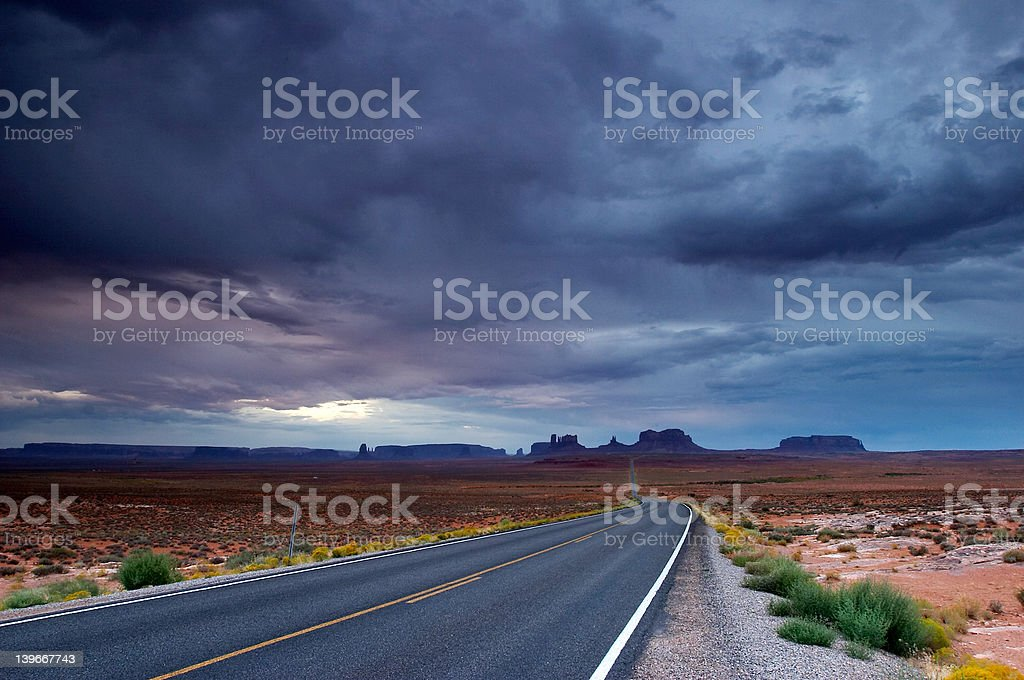 Lost highway stock photo