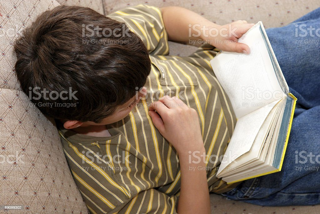 Lost in a Book royalty-free stock photo