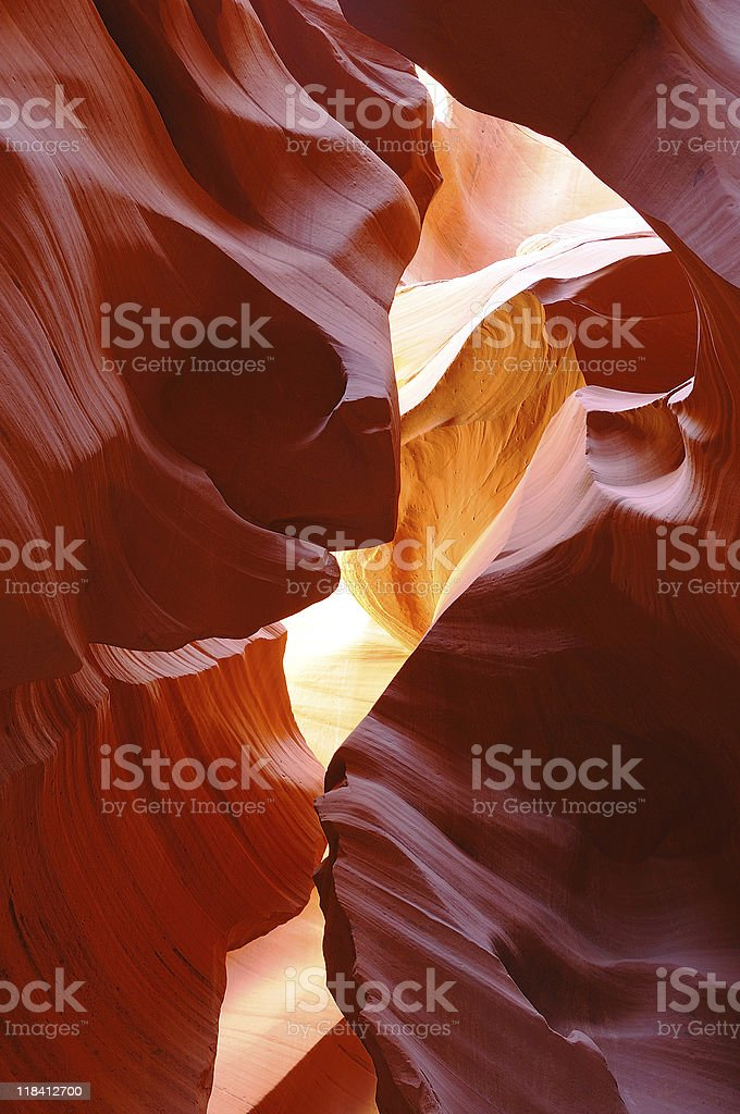 Lost in Antelope Canyon Beauty royalty-free stock photo