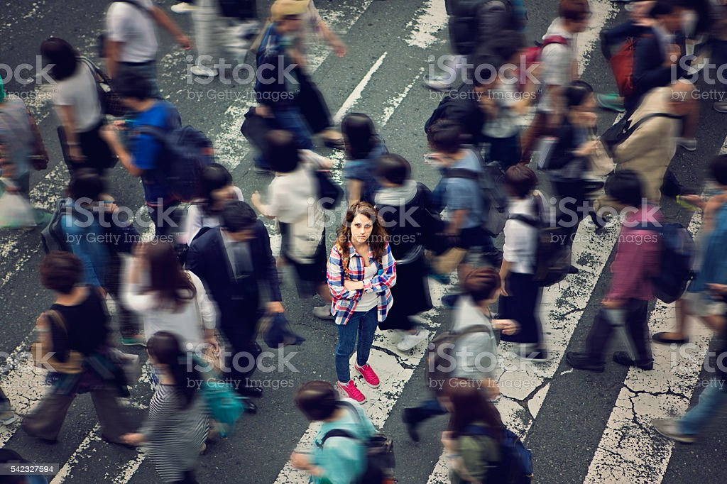 Lost in Japan stock photo