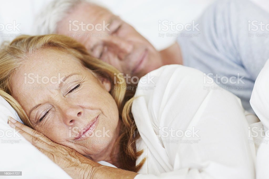 Lost in peaceful dreams stock photo
