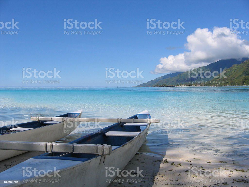 Lost in tha pacific ocean royalty-free stock photo