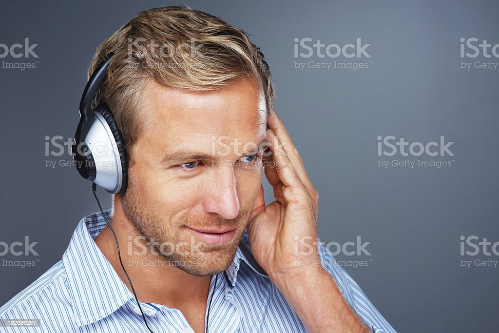 Lost in the beat royalty-free stock photo