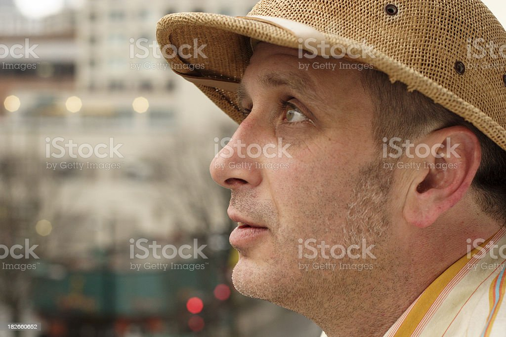 Lost in the city royalty-free stock photo