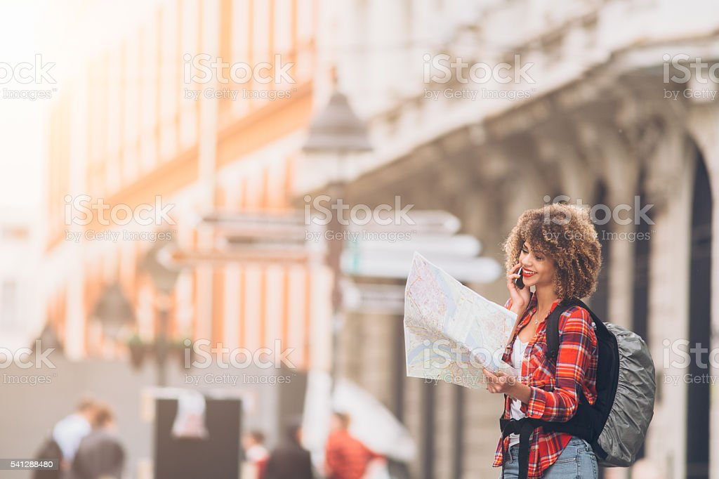 Lost in the city stock photo
