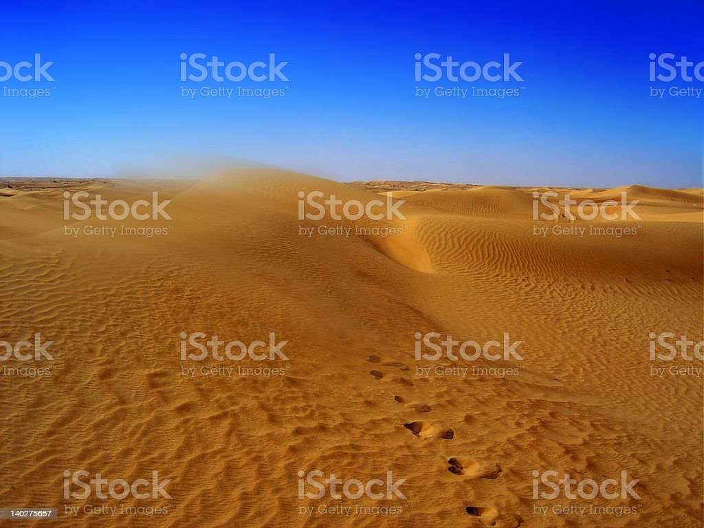 Lost in the Desert stock photo