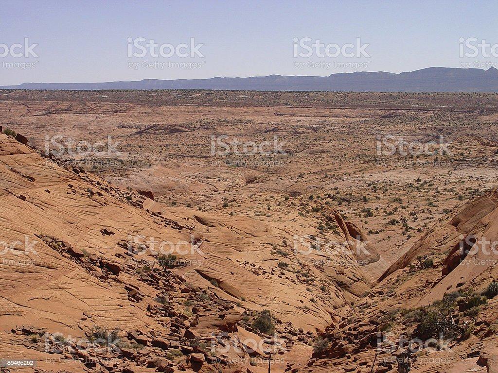 Perdu dans le Red Rock photo libre de droits