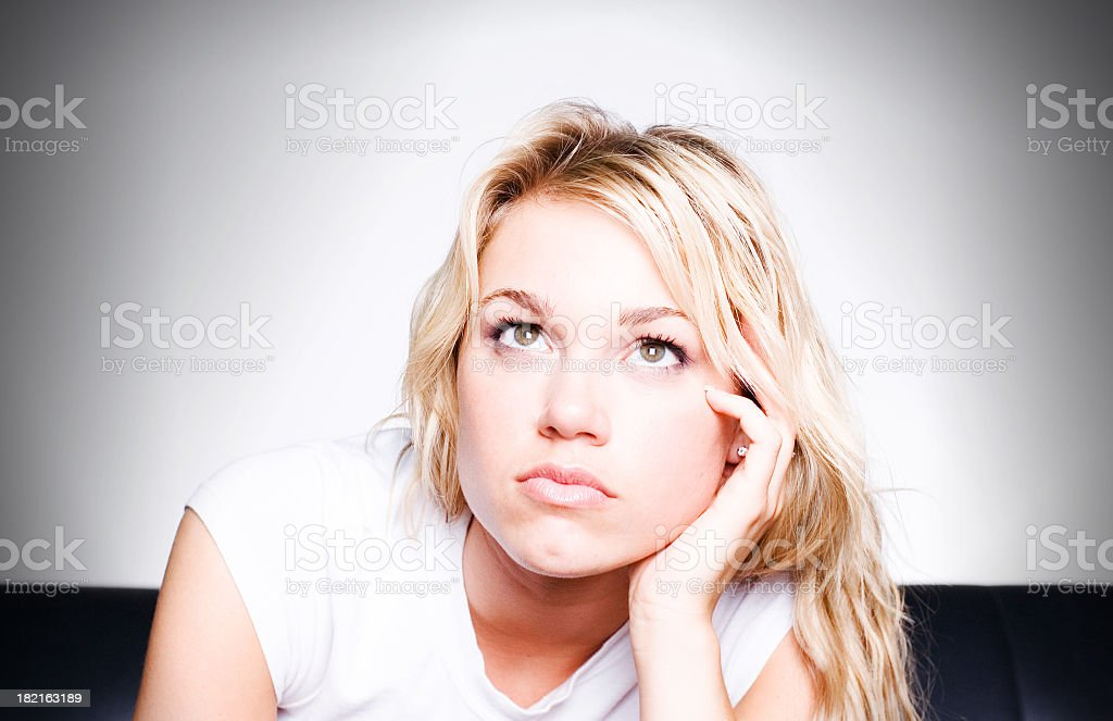 Lost In Thought stock photo